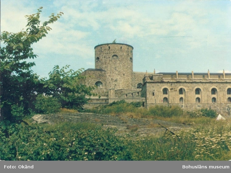 """Tryckt text på kortet: """"Marstrand. Carlstens fästning."""" ::"""
