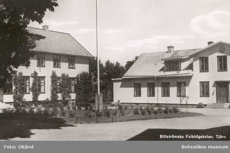 """Tryckt text på kortet: """"Billströmska Folkhögskolan, Tjörn."""""""