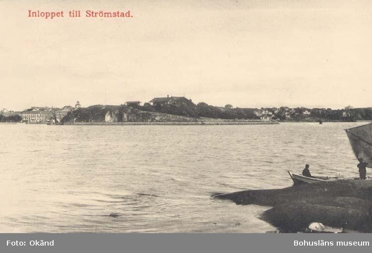 """Tryckt text på kortet: """"Inloppet till Strömstad."""""""