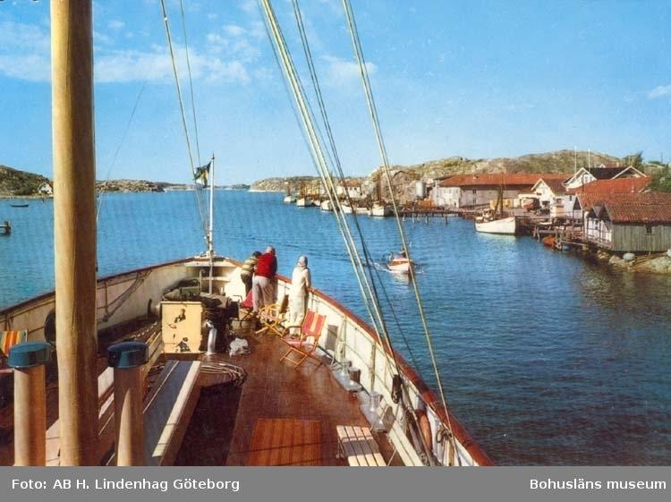 "Tryckt text på kortet: ""Havstenssund. Göteborg - Oslo Linjen."""
