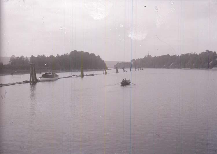 Vy från flottbron vid Leksands-Noret på Siljan 1916