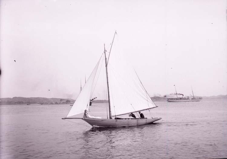 """Enligt text som medföljde bilden: """"Lysekil. """"Minx"""" fr. Lyckes. 18/8 1901."""""""