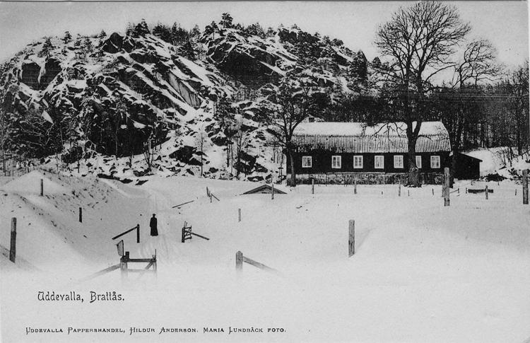 Vykort Brattås gård