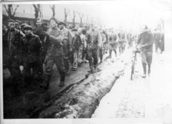 """Enligt fotografens notering: """"Norska sjömän 1942 från s/s Sk"""