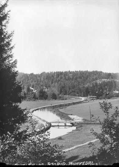 """Enligt fotografens noteringar: """"Vid Björids damm omkring 1920."""""""