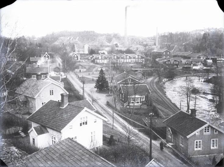 """""""Munkedals fabriksområde omkring 1926."""" """"Se Bilaga A."""" (UMFA53666: 1646a)"""