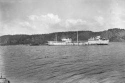 Tankfartyget JULIUS i Munkedals hamn 1948