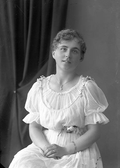 """Enligt fotografens journal nr 3 1916-1917: """"Tidholm, Anna Fr. Laholm""""."""
