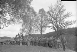 """Enligt fotografens journal nr 7 1944-1950: """"Hemvärnsövning H"""