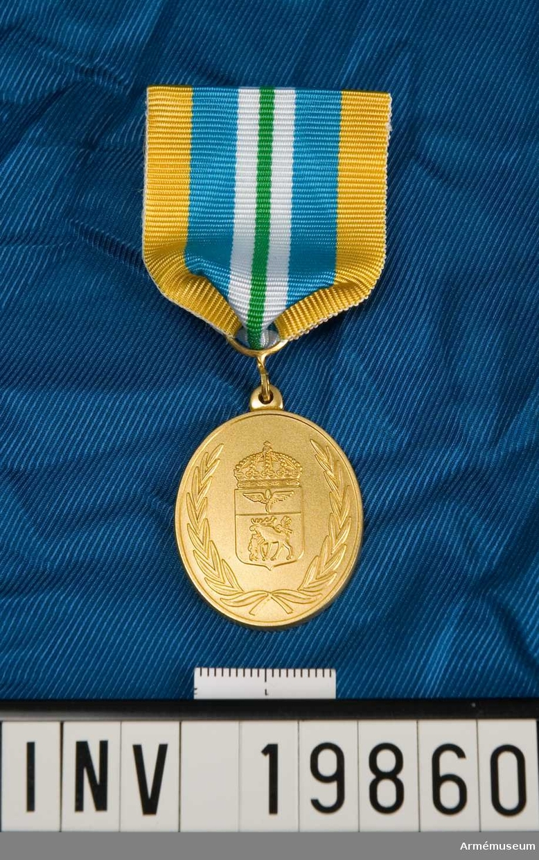 Medaljen är oval. I skölden en älg som anfalles av en falk och en varg.  I en ovanför liggande balk en bevingad tvåbladig propeller. Skölden krönt med en kunglig krona och omgiven av en öppen lagerkrans. Inskription på frånsidan: Jämtlands flygflottilj. För förtjänst. Blått band med ett grönt streck på mitten åtföljd på vardera sidan av en vit rand samt med breda gula kanter. Medaljen förvaras i ask tillsammans med ett släpspänne.