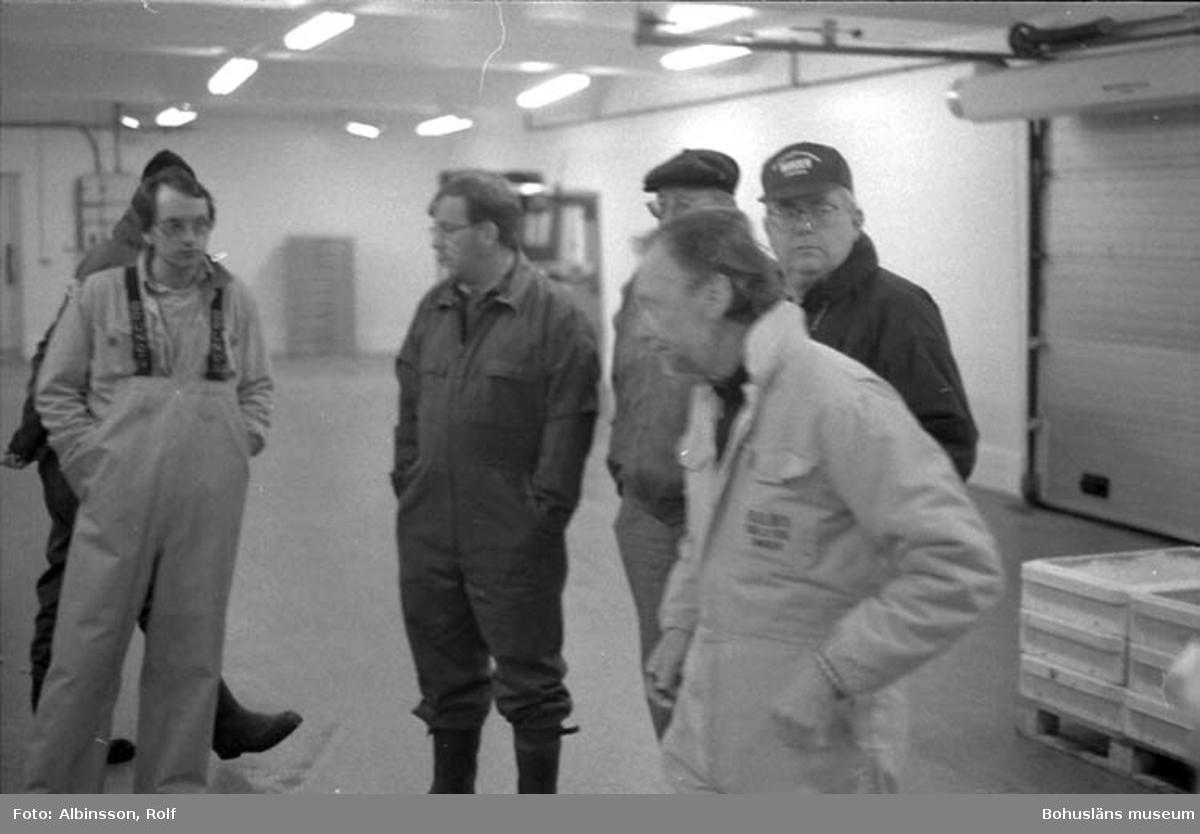 """Enligt fotografens noteringar: """"Från vänster Peter Samuelsson från BRS (Bröderna Samuelsson), Bengt Lorentzon, Bertil Abrahamsson (tidigare komunalrådet), Leif Johansson, Göran Ekelöf.""""  Fototid: 1996-04-03."""