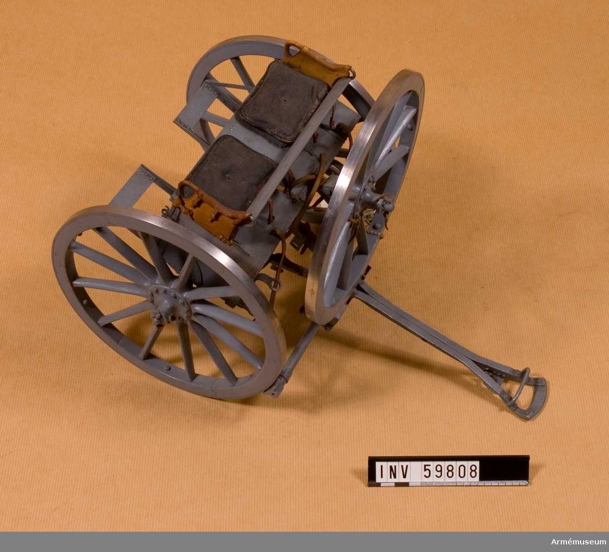 Grupp F I. Skala 1/8. Tillverkad enligt Arméförvaltningens artilleridepartement, skr 4/2 1891.