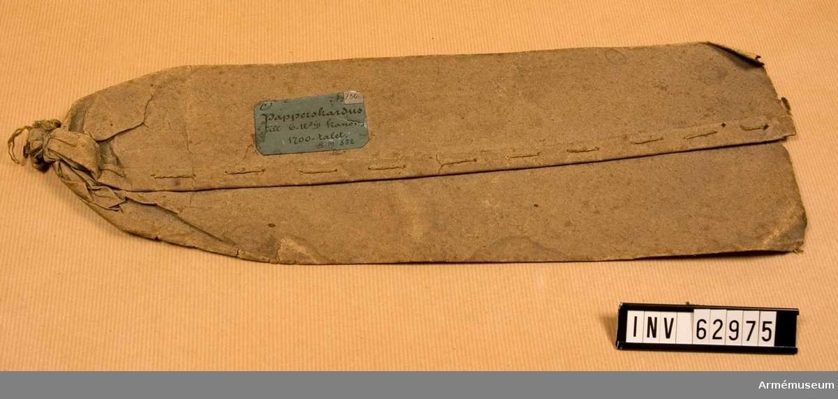 Grupp F II.  För större laddning, 1700-tal. Kapten F A Spaks katalog år 1888.