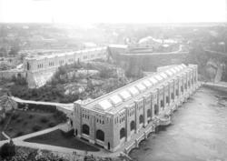 Olidans kraftverk, Trollhättan, augusti 1924