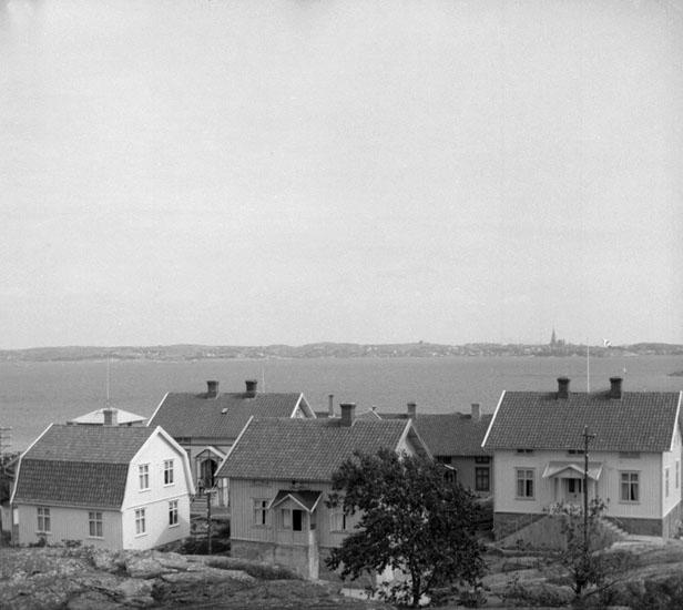 (Stereo karta XV) Fiskebäckskil från Kvarnberget. 19 Juni 1926.