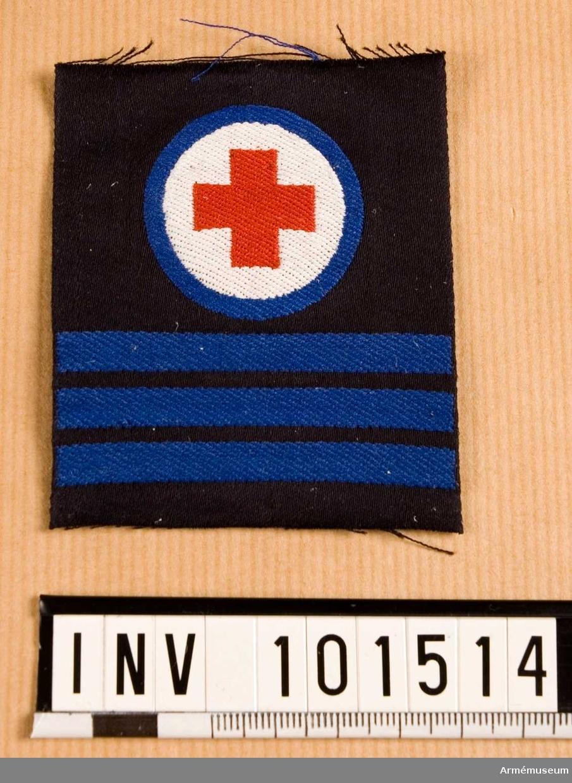 Gradbeteckning: Sjukvårdare, värnpliktig, furir, marinen.