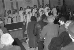 """Text till bilden: """"Frälsningsarmen. Lucia. 1951.12.15"""""""