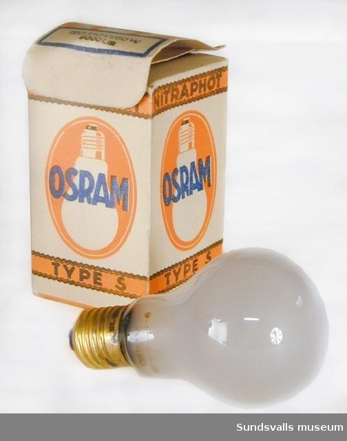 Osram glödlampa med tillhörande kartong