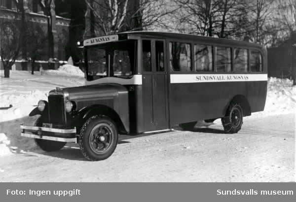 Buss för linjen Kungsnäs-Sundsvall