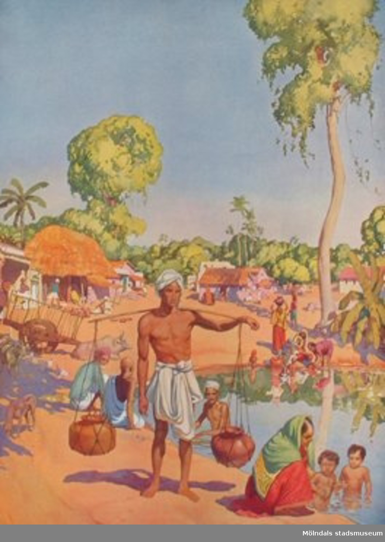 Nelson: Folklivsbilder.             I en indisk by.