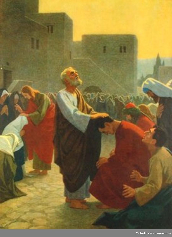 Kristendomskunskap:Apostlarna sprider den kristna läran. Bibeln i bild nr. 49.