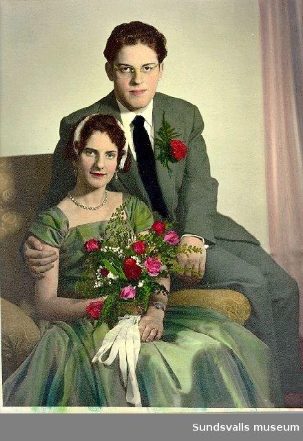 Porträtt. Colorerad svartvit bild