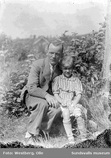 Olov (Olle) Westberg och dottern Anne-Marie, 1930.
