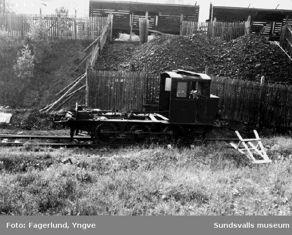 Lok nr 3, vars panna är uttagen och sänd till firma Nykvist & Holm för revision, Ljungaverk.