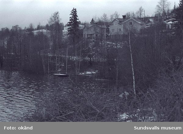 Domsjö ångsåg. Foto tagit från Järved