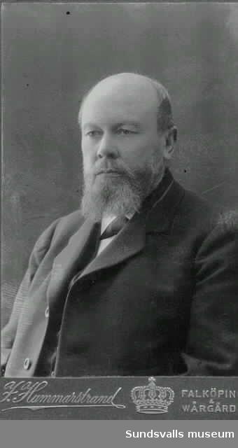 Porträtt av postdirektör C Holst  (att införas i ST)
