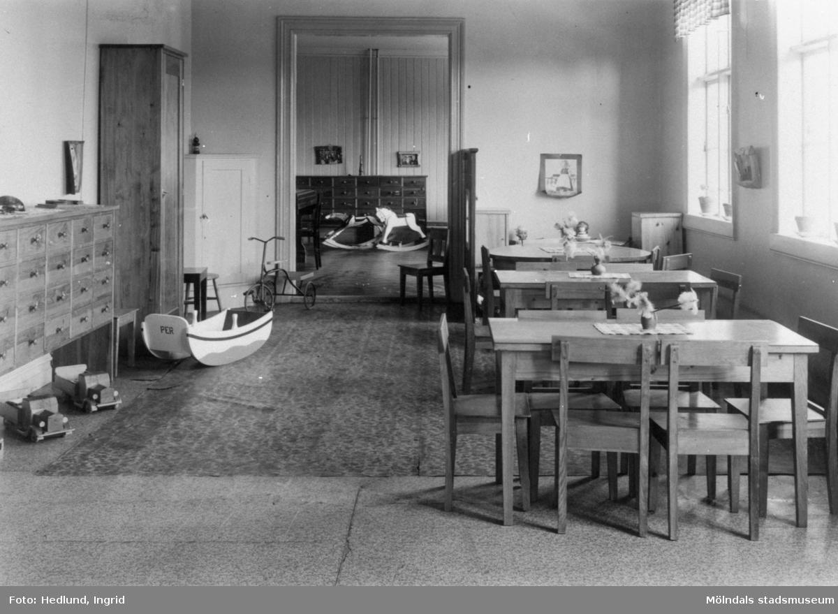 Bosgårdens barnträdgård 1938-1945. Interiör.