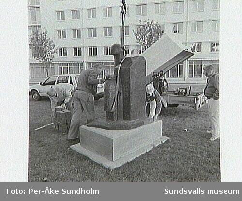 Dokumentation:Placering av Sigurdur Gudmudssons skulpturAtthagarót.