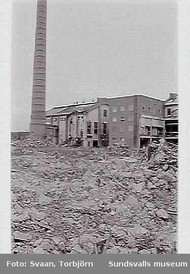 Dokumentation i samband med rivning av delar av f.d. Matfors pappersbruk.