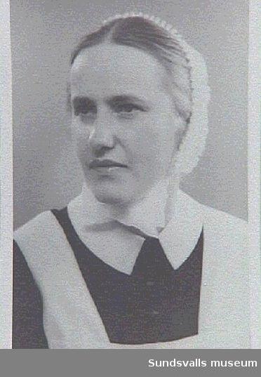 Gerda Larsson, föreståndarinna på Ålderdomshemmet för kvinnor.