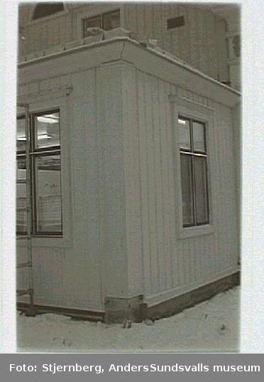 Köksutbyggnad på herrgårdens huvudbyggnad