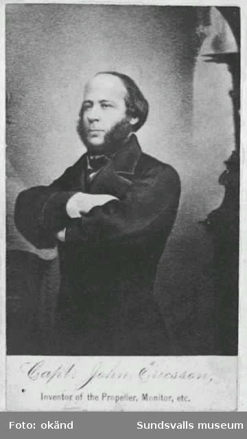 Capt.John Ericsson, inventor of the propeller, Monitor etc
