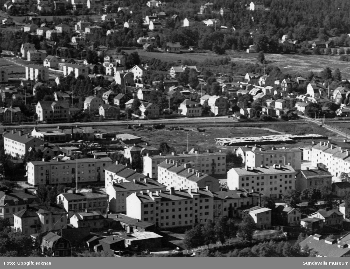Vy över Västermalm från Norra Berget.
