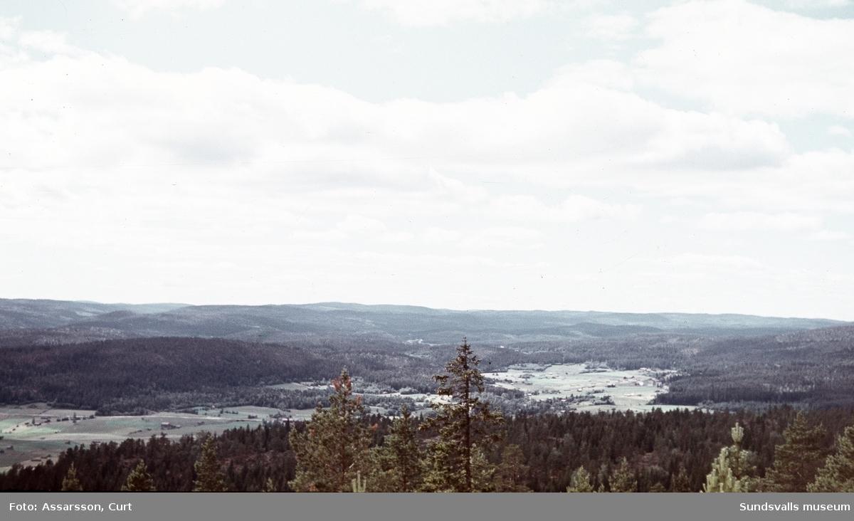 Vy från Rösåsen över Sättnabygden.