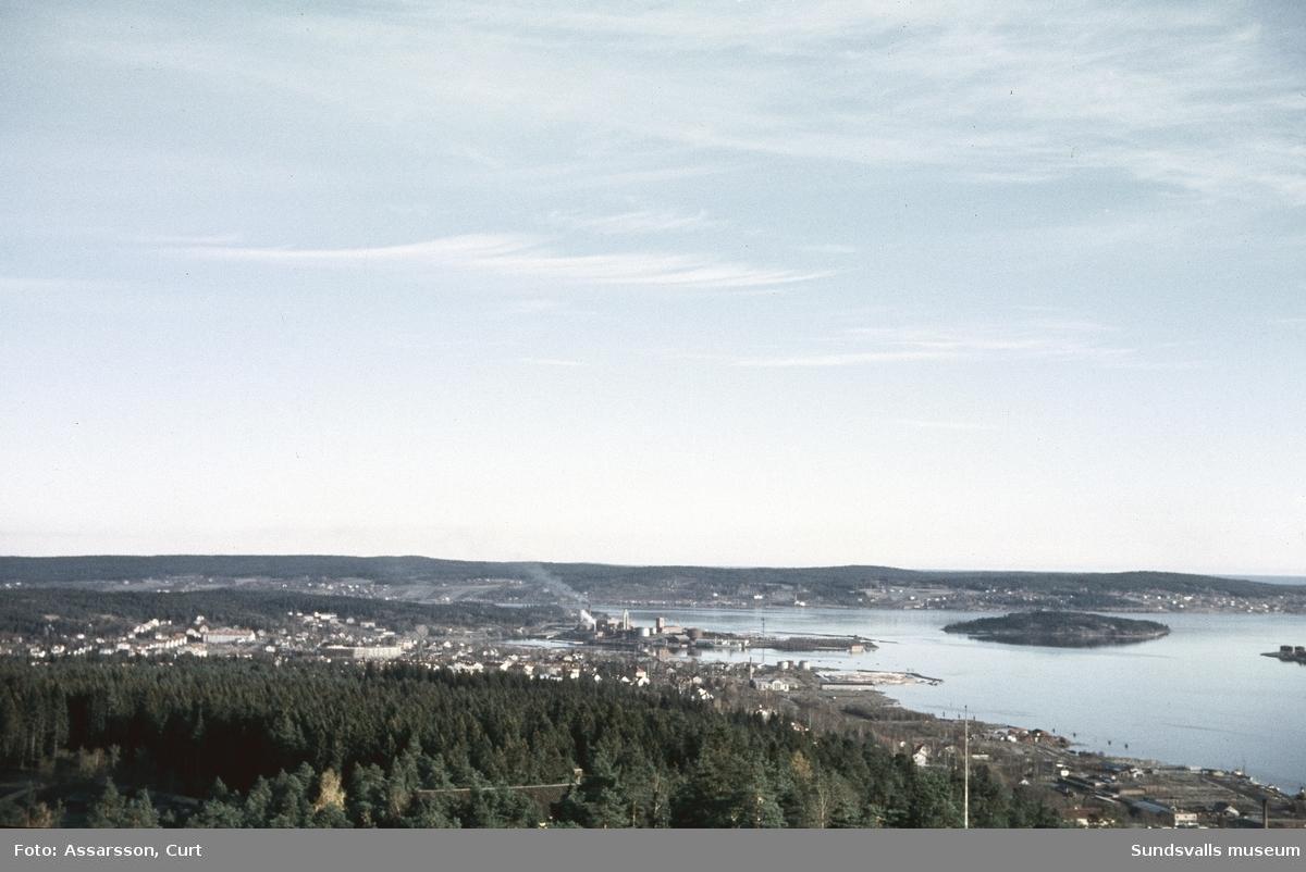 Vy mot Ortviken från Norra Stadsberget.