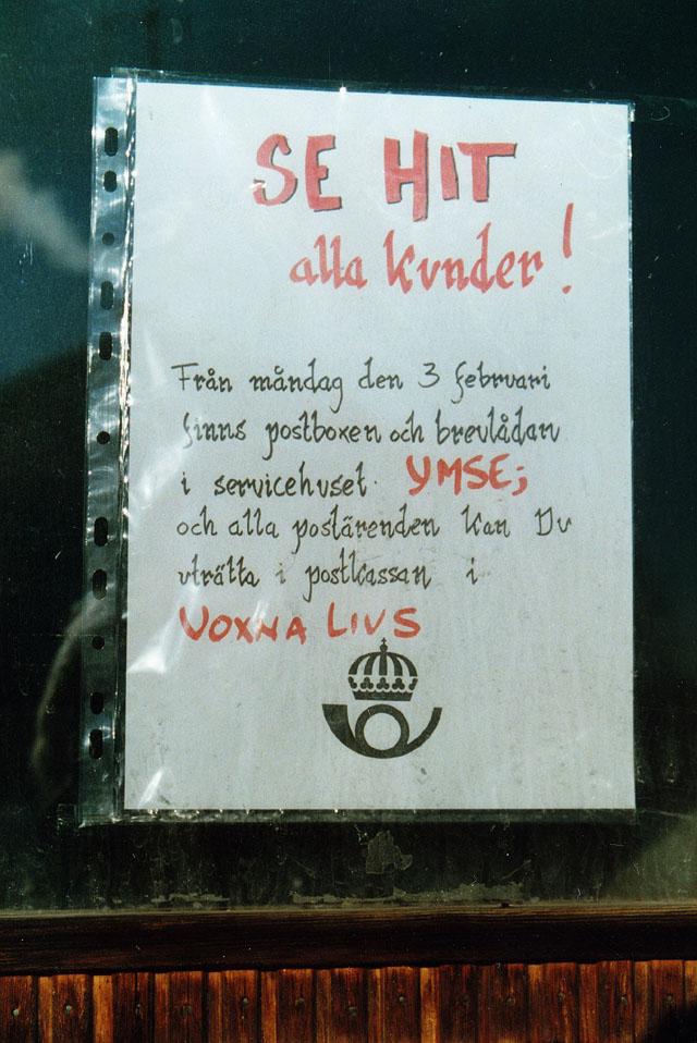 Poststället 820 01 Voxnabruk