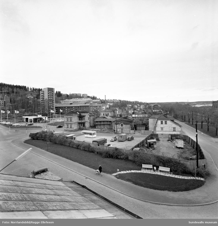 Norrmalm fotograferat från taket på snickerifabriken vid Storbron.