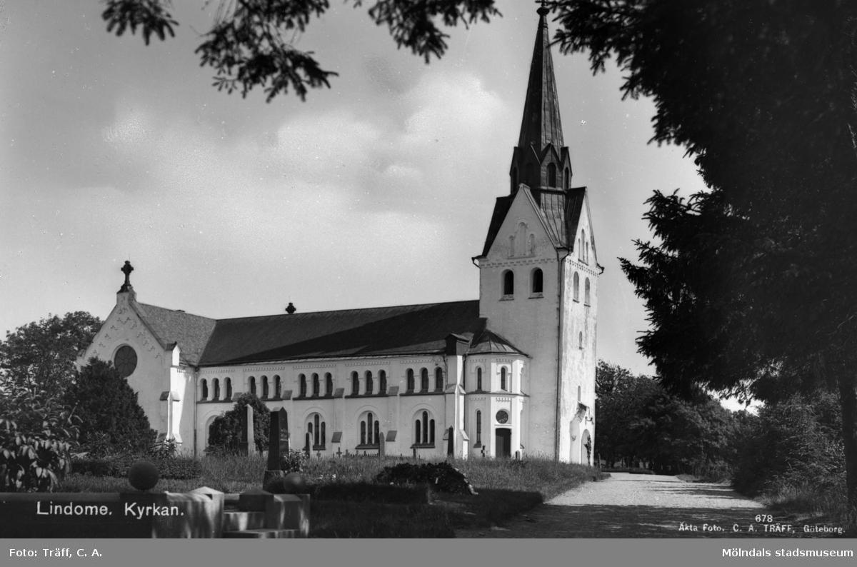 """""""Lindome. Kyrkan"""", 1930 - 40-talet."""