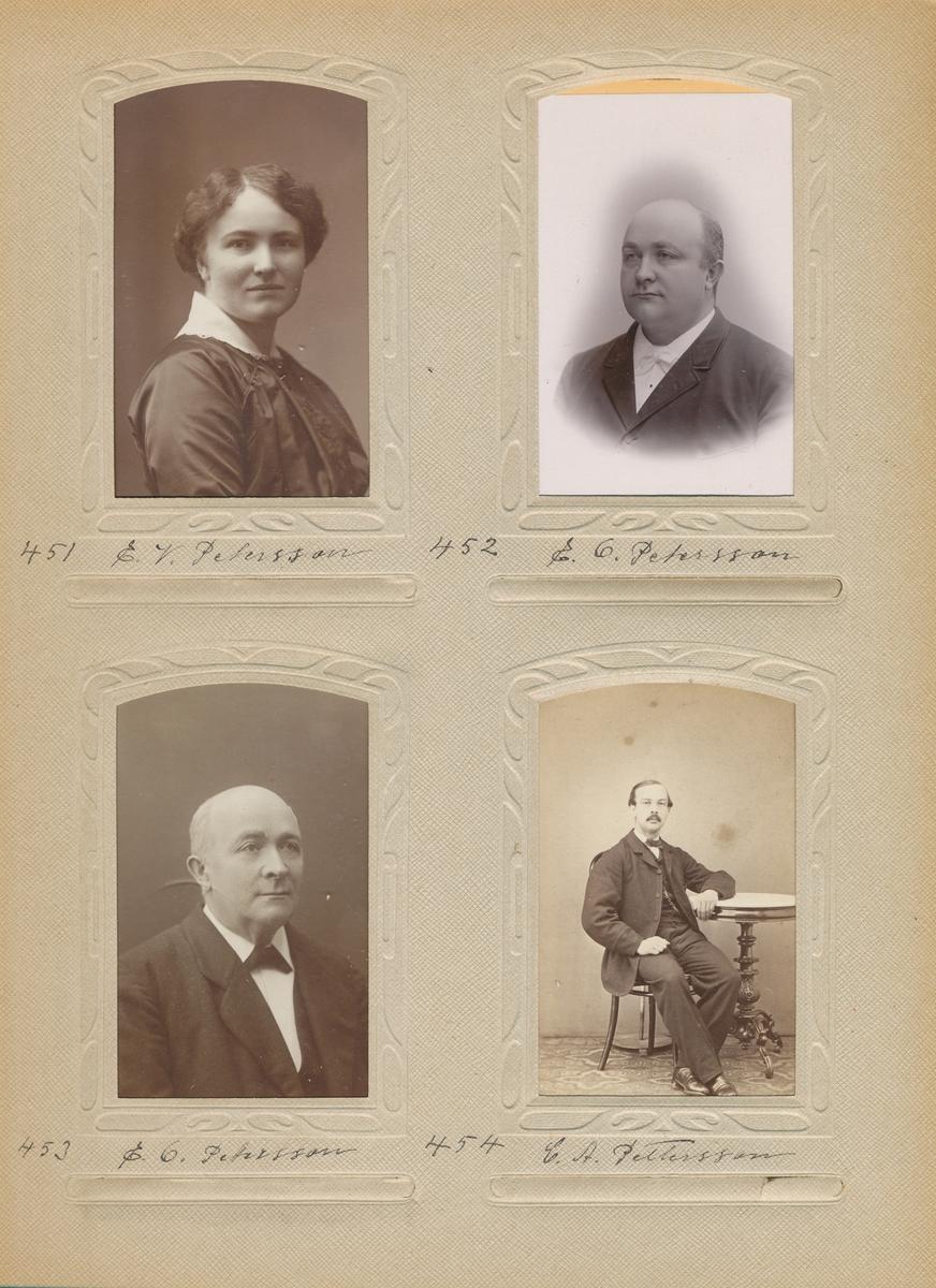 Porträtt av Erik Olof Petersson, postmästare i Storvik 1907-1910 och i Sollefteå 1910-1920.