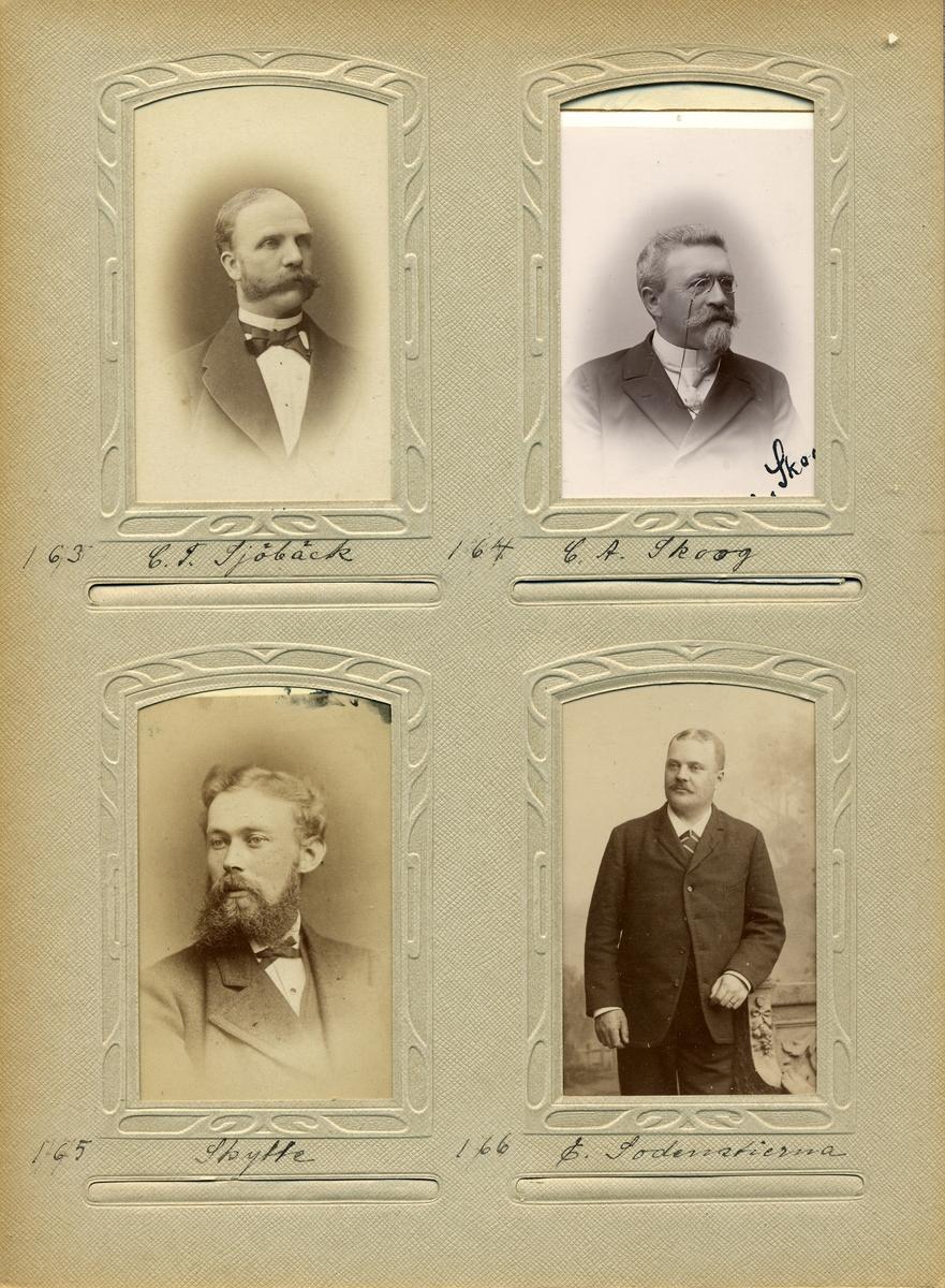 Porträtt av Charles August Skoog postexeditör i Östersund 1871.