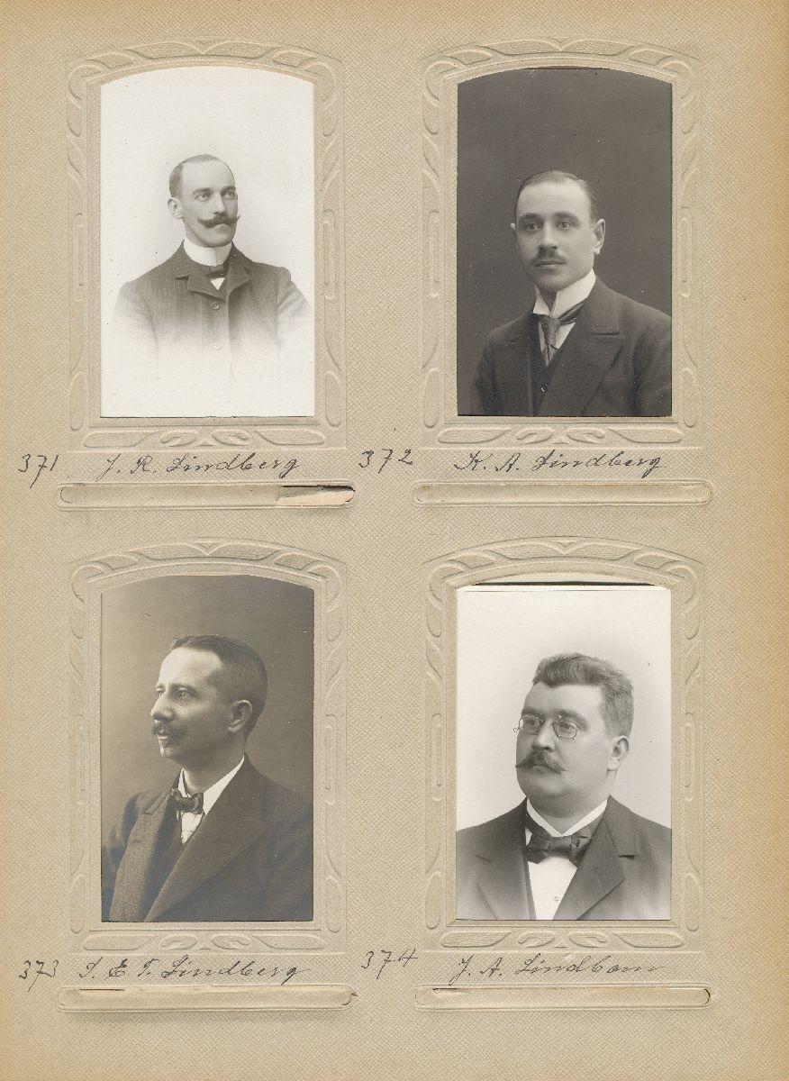 Porträtt av Johan Axel Lindbom, postexpeditör i Härnösand 1897.