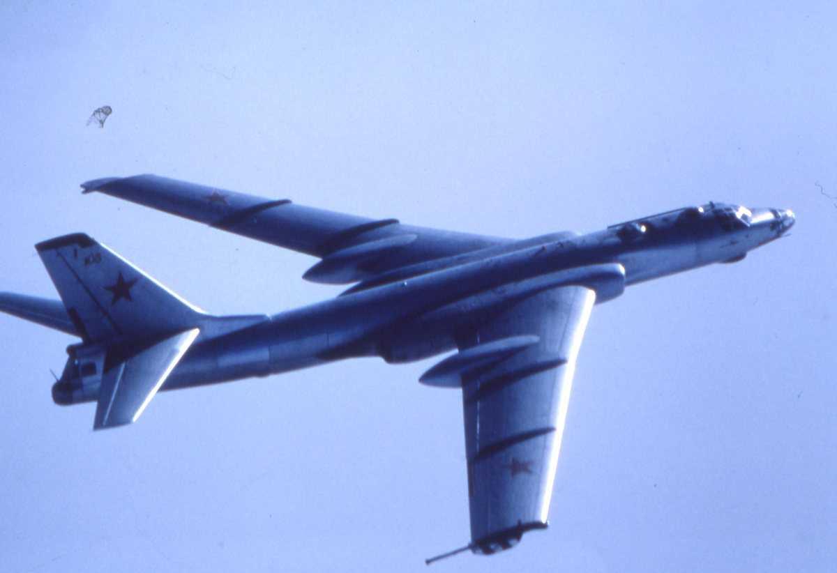 Et russisk fly av typen Badger A Tankfly.