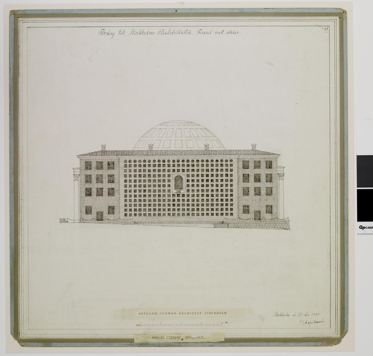 Stockholms stadsbibliotek Fasad