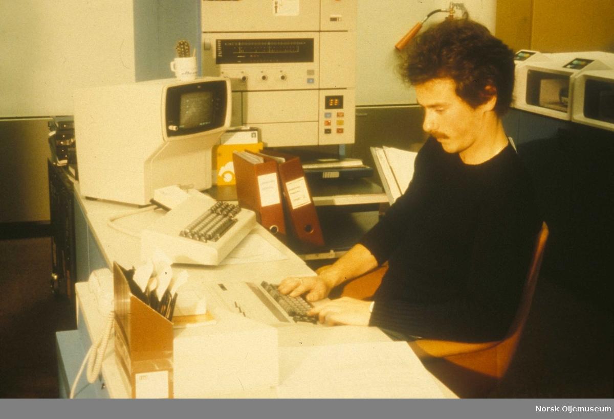 Jan Rider EDP avdeling i 1978. Elf hovedkontor. Radio - Telex - EDB