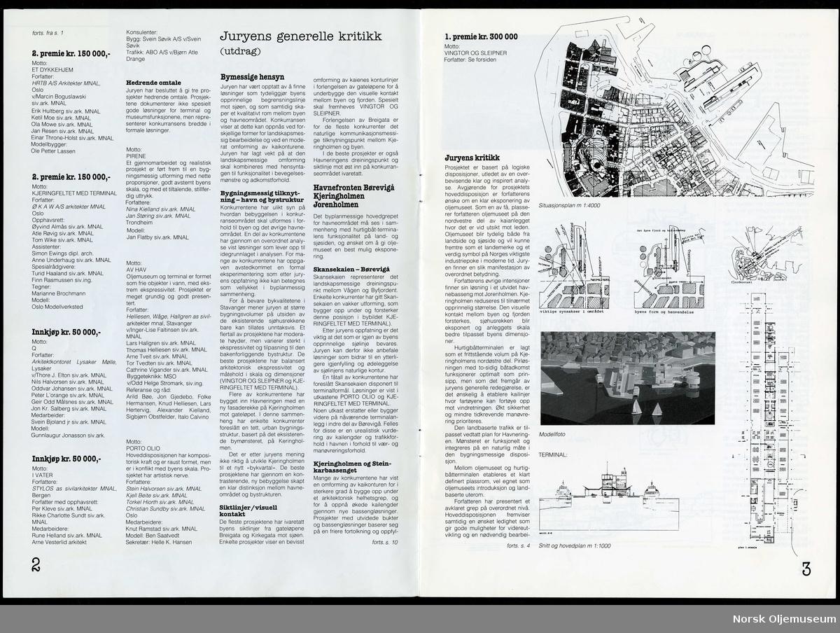 Vinnerutkast. 1. Premie, Nr. 17. Vingtor og Sleipner. Side 9 i konkurransehefte.