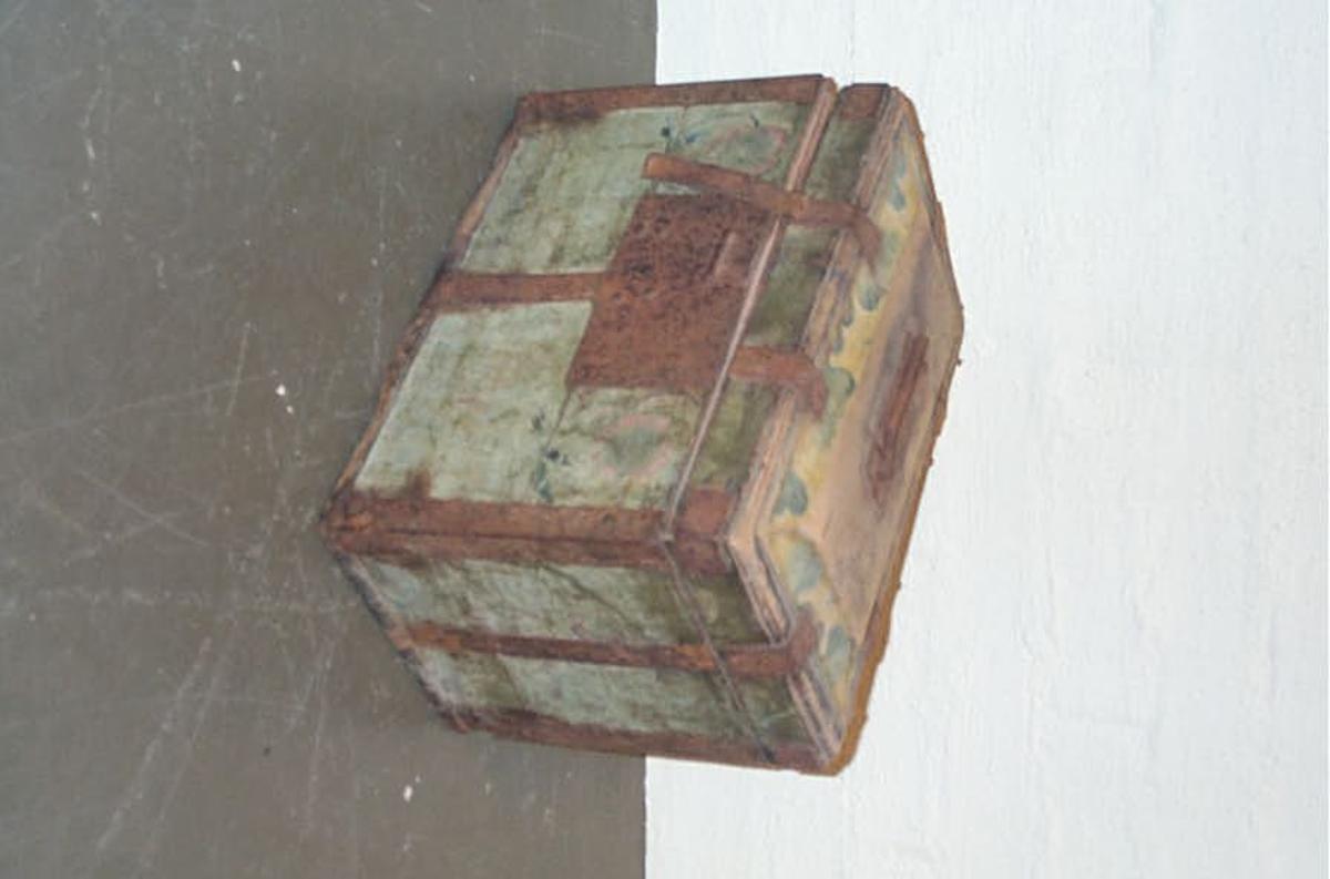 Form: Rektangulert i form DHS.30839/skrin har truleg kome inn til museet omkring 1910 - 1930  -  og har då vore katalogisert tidlegare, men nummereringa på gjenstanden er  vorten borte.
